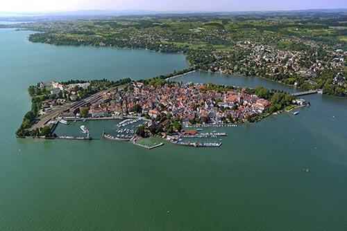 Luftaufnahme von Lindau