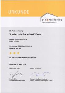 DTV Klassifizierung Lindau die Trauminsel Fewo 1