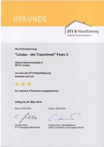 DTV Klassifizierung Lindau die Trauminsel Fewo 3