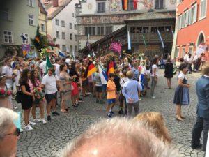 Lindauer Kinderfest vor dem alten Rathaus